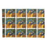 Ruffled Blue and Gold Macaw Pillowcase