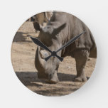 Rutting Rhino Round Clock