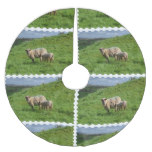 Sheep Family Brushed Polyester Tree Skirt