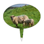 Sheep Family Cake Topper