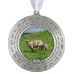 Sheep Family Pewter Ornament