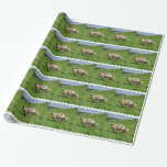 Sheep Family Wrapping Paper