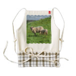 Sheep Family Zazzle HEART Apron