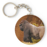 Silverback Gorilla Photo Keychain