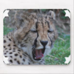 Sleepy Cheetah Cub Mouse Pad