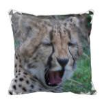Sleepy Cheetah Cub Throw Pillow