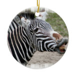 Smiling Zebra Ornament