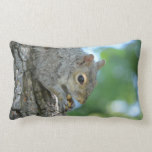 Squirrel Hanging in A Tree Lumbar Pillow