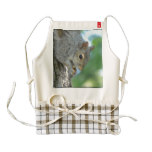 Squirrel Hanging in A Tree Zazzle HEART Apron