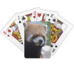 Sweet Red Panda Bear Playing Cards