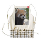 Sweet Red Panda Bear Zazzle HEART Apron
