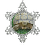 Turtles Snowflake Pewter Christmas Ornament