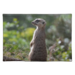 Wild Meerkat Cloth Placemat