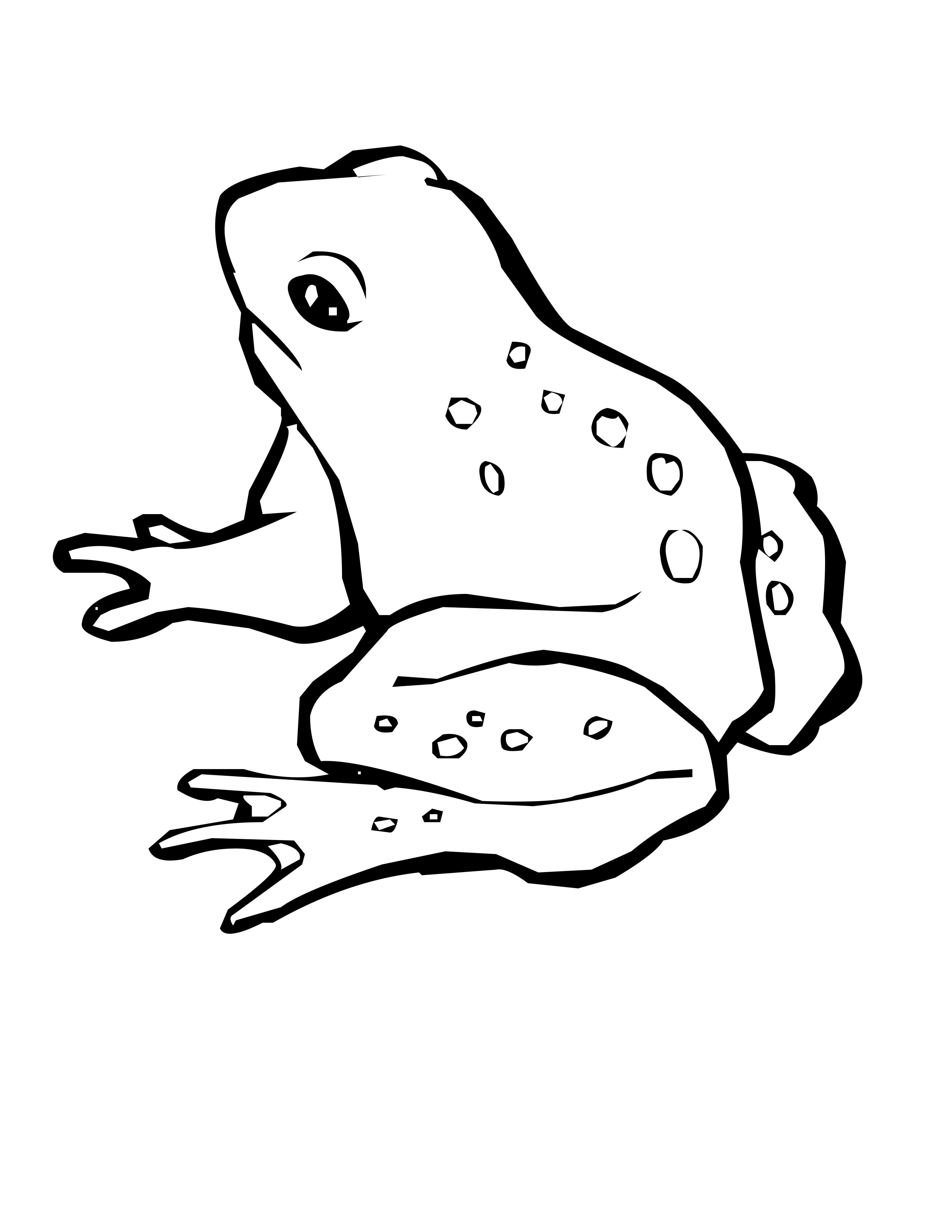 Free frog coloring pages for Swamp animals coloring pages